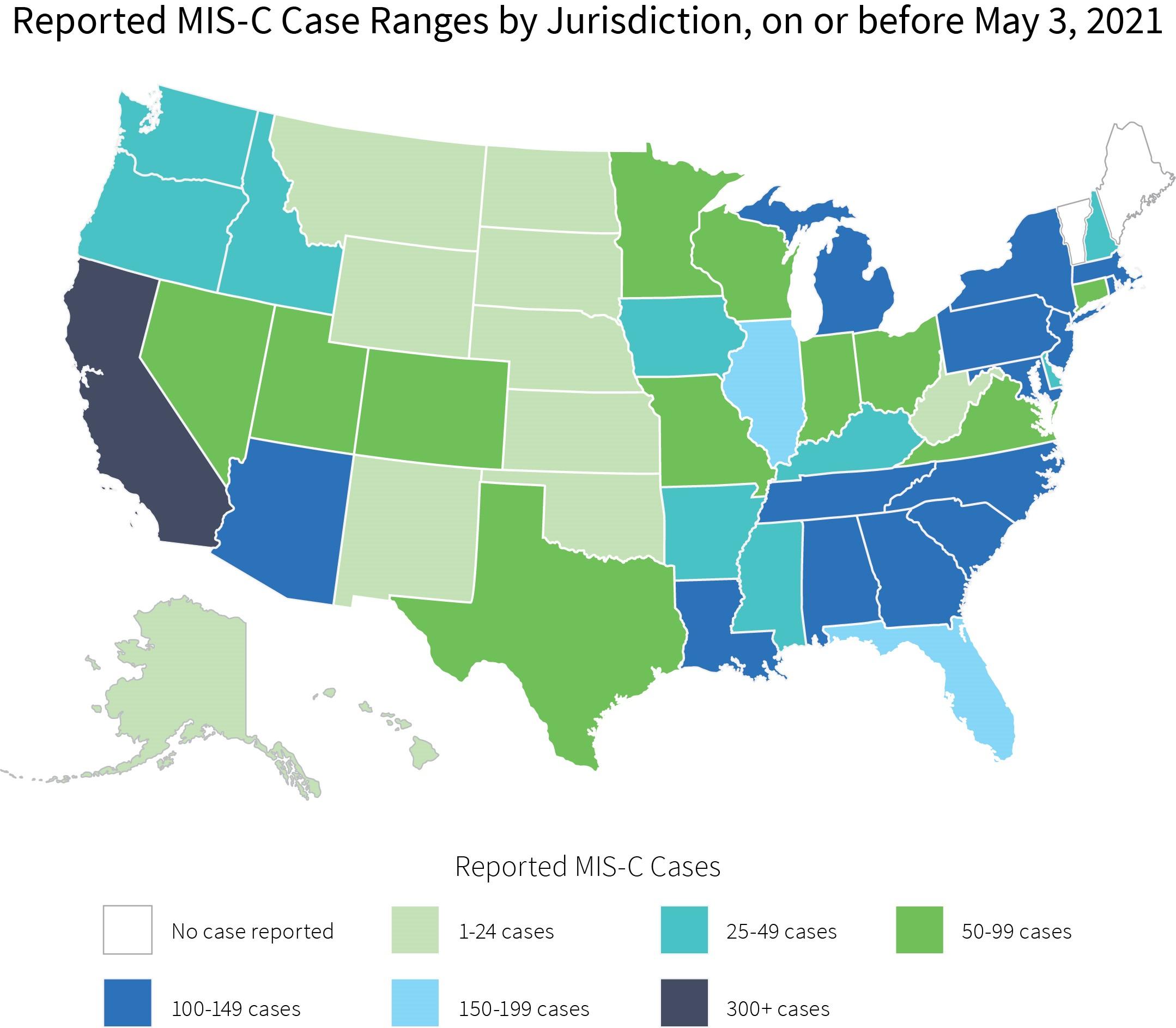 Reported MIS-C case ranges